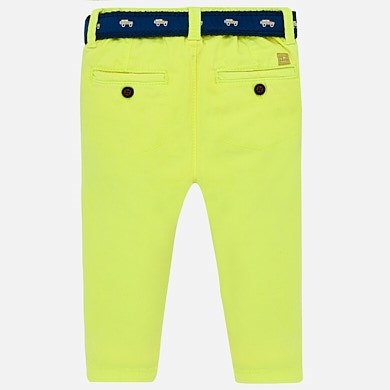 f8e959597c3a Slim fit trousers with contrast belt for baby boy Neon pineapple ...