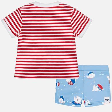 061b02d41 Conjunto camiseta y bañador corto bebé recién nacido Red pop - Mayoral