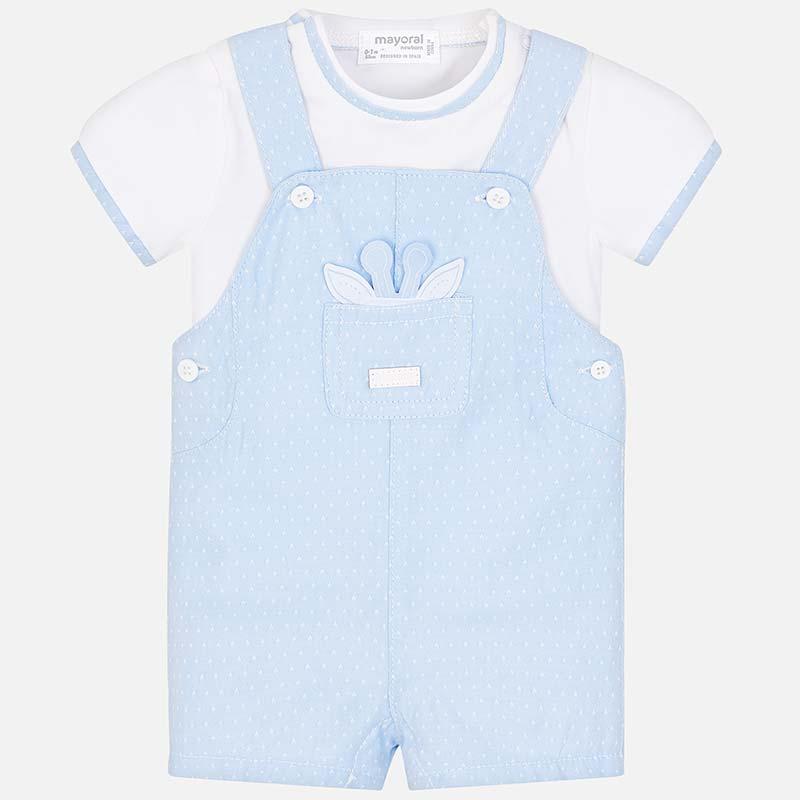 73f3fc119 Conjunto camiseta y peto bebé recién nacido Cielo - Mayoral