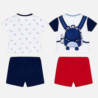 beb8d0ac88cb Σετ μπλούζες και παντελόνια κοντά νεογέννητο Red pop - Mayoral