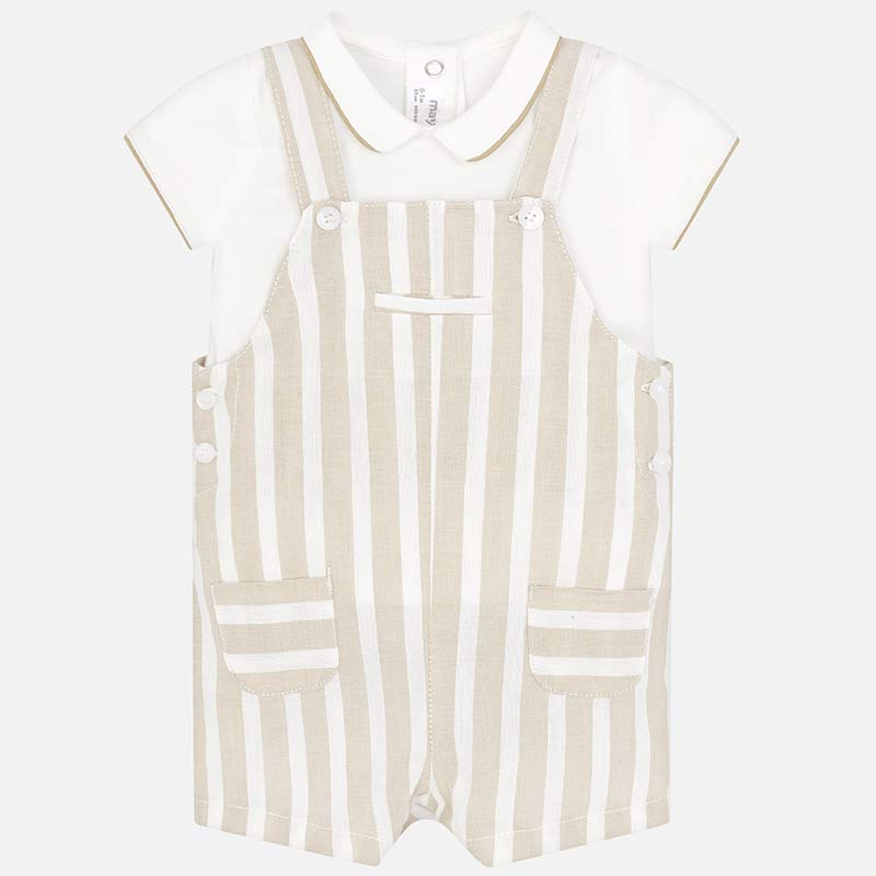 beaa84f3d Striped polo shirt and dungaree set for newborn boy Sheet - Mayoral