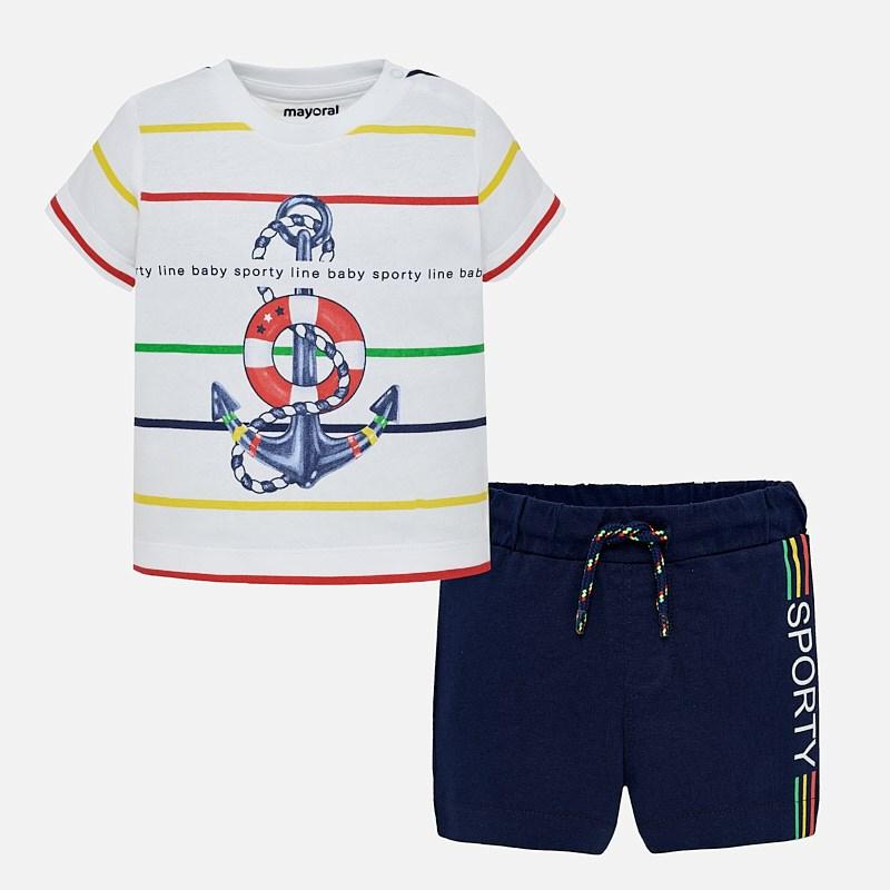 c00fbe982b3 Σετ μπλούζα και σορτς baby αγόρι Μπλε - Mayoral