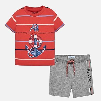 388156c09 Conjunto bermudas y camiseta ancla bebé niño