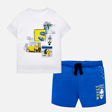 7143db19d Conjunto camiseta y bermudas waves bebé niño