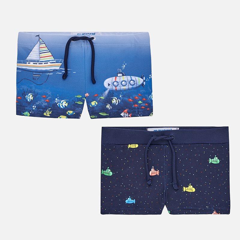 dd0eb994d7 Short nautical swim shorts set for baby boy Blue - Mayoral