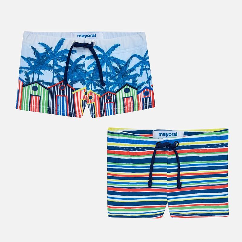 d6fceb870df3 Set bañadores cortos estampados bebé niño Marino - Mayoral