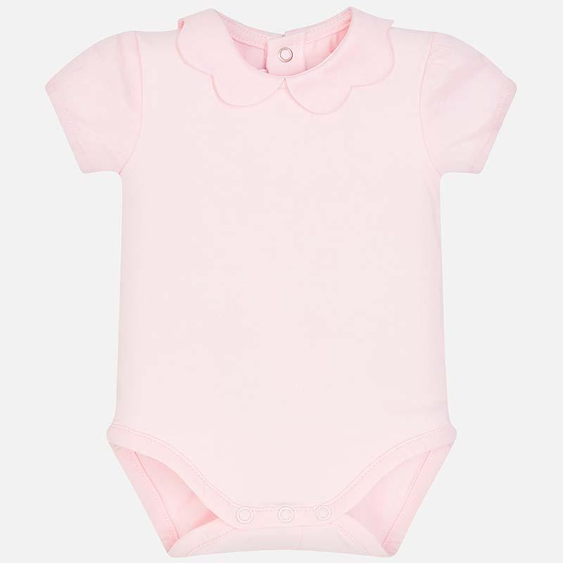 a44d3a6c238 Κορμάκι κοντομάνικο νεογέννητο κορίτσι Rosa Baby - Mayoral