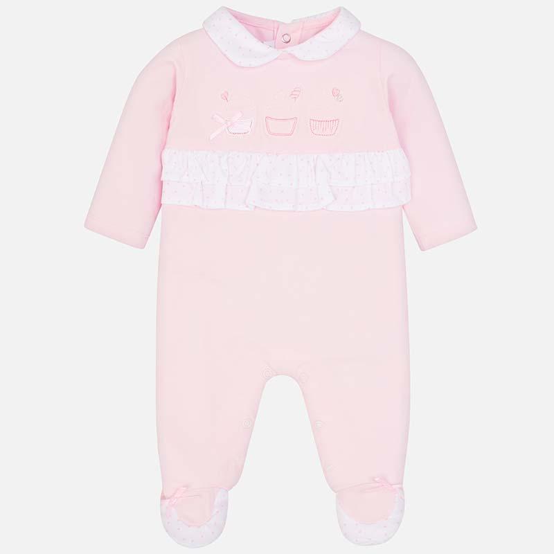 133ac23aa15 Πιτζαμάκι μακρύ νεογέννητο κορίτσι Rosa Baby - Mayoral