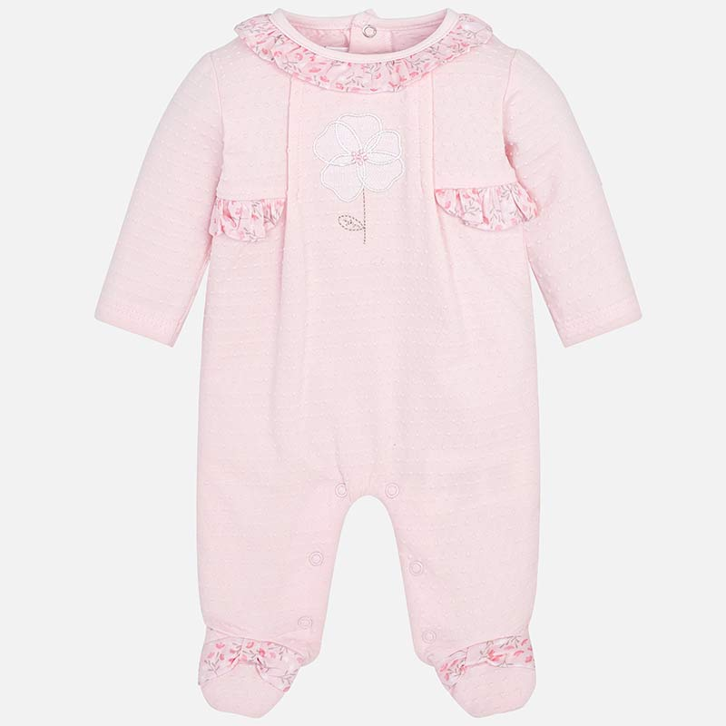 f4c7c92e0b04 Pyjamas with flowers for newborn girl Baby Pink - Mayoral