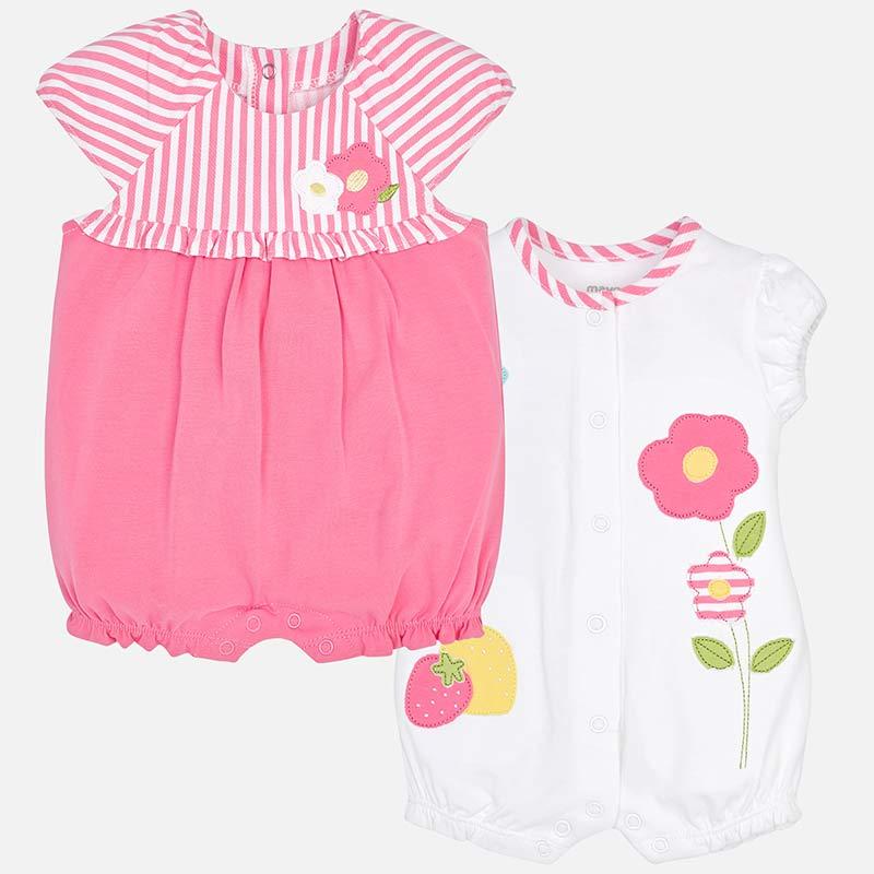 50e38e664bb73 Set pyjamas courts fleurs bébé fille nouveau-né Sirop - Mayoral