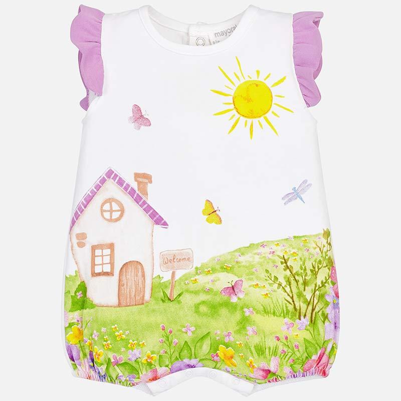 3b20f4597c5ce Pyjama court bébé fille nouveau-né Mauve - Mayoral