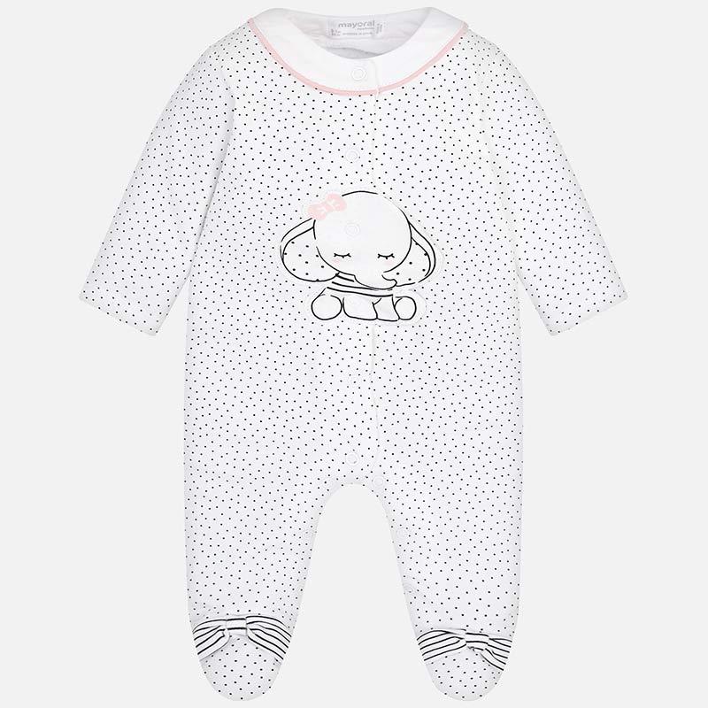 6bbd499e2a Pijama largo elefante bebé recién nacida Nero - Mayoral