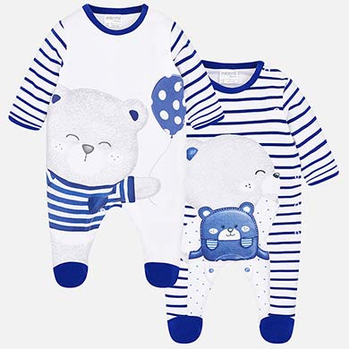 7f2923c63 Set pijamas largos ositos bebé recién nacido