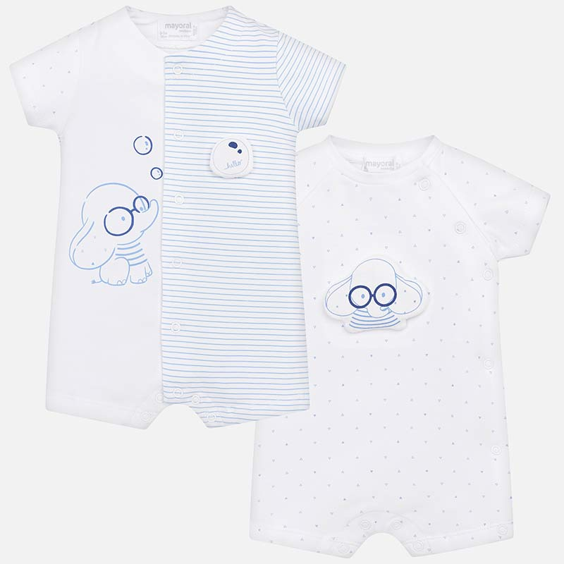 a5c2317fa3 Set pijamas cortos dibujos bebé recién nacido Blue - Mayoral