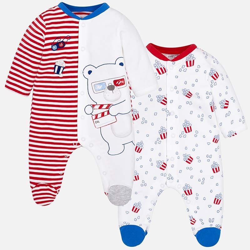 5e105d1e4 Set pijamas largos estampados bebé recién nacido Red pop - Mayoral