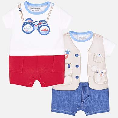 19280d4ed Set pijama cortos aventura bebé recién nacido
