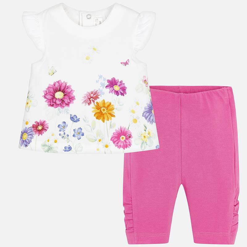 954b70c1fec6 Σετ κολάν και μπλούζα λουλούδια νεογέννητο Flora - Mayoral
