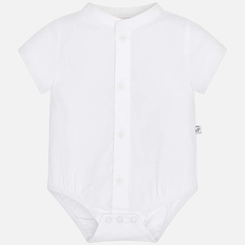fd15a567fdf8 Body camisa gola mao bebé recém nascido Branco - Mayoral