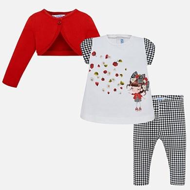 Conjunto bolero y leggings vichy bebé niña e933cc5029ce
