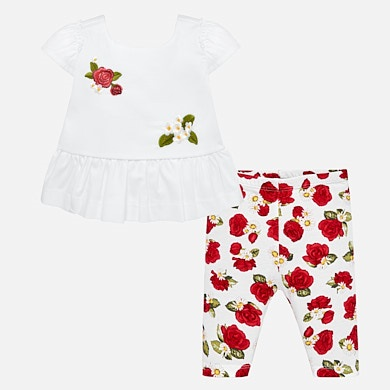Floral t-shirt and leggings set for baby girl e60af076a
