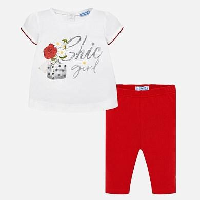 Conjunto leggings y camiseta Chic Girl bebé niña 92397a51f7bb