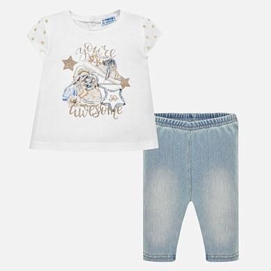 Conjunto camiseta y leggings vaqueros bebé niña 4cc37d71609f