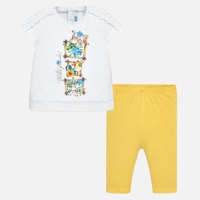237f4e73fd4c1 Animal print t-shirt and leggings set for baby girl