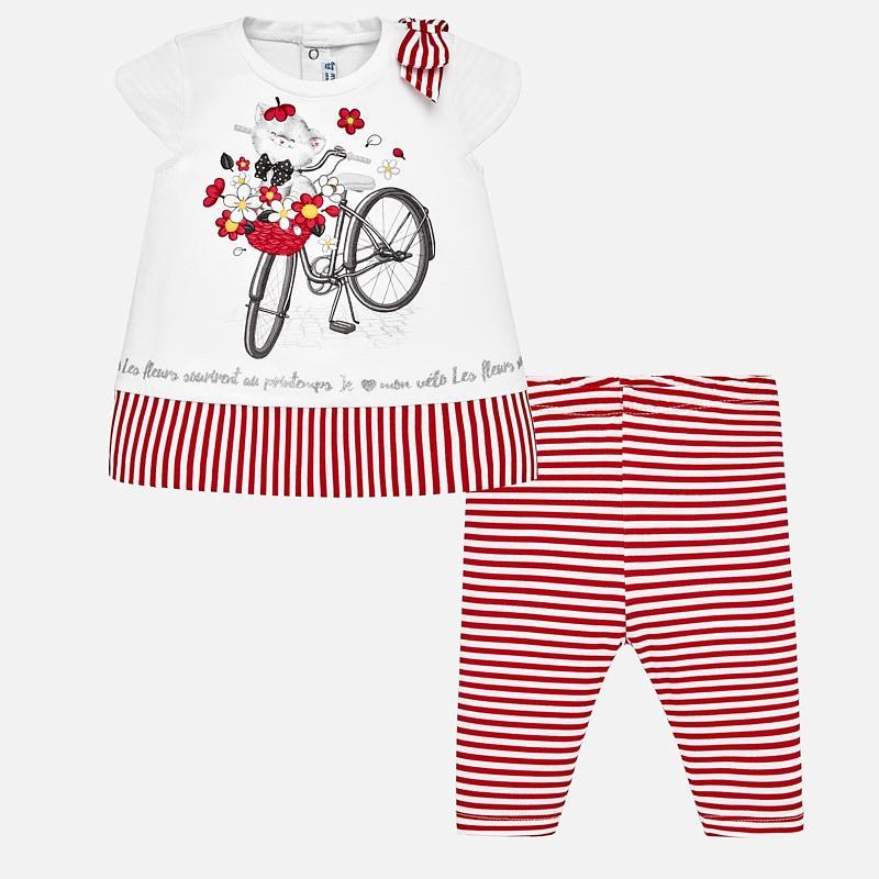 35d77f58c Conjunto camiseta y leggings rayas bebé niña Rojo - Mayoral