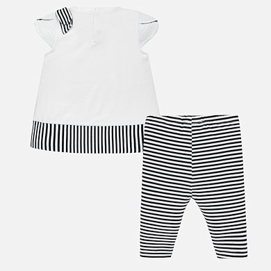 8b9827052c9 Striped t-shirt and leggings set for baby girl Navy blue - Mayoral