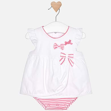 2c21fe674 Short baby bodysuit with bows for newborn girl Navy - Mayoral