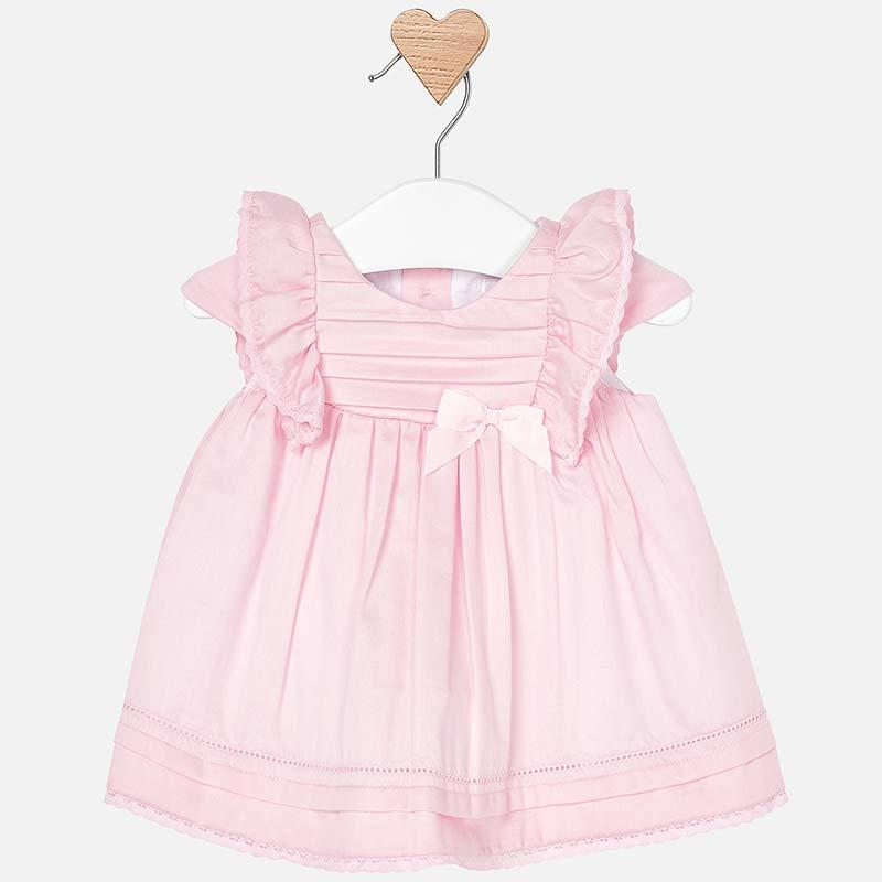 b5b200ebd8 Sukienka z satyny dla dziewczynki Newborn Róż Baby - Mayoral