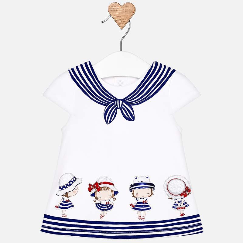 e940dc26b2 Sukienka w marynarskim stylu dla dziewczynki Newborn Navy - Mayoral