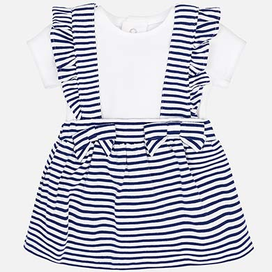 d76e91f91 Conjunto falda con tirantes y camiseta bebé recién nacida