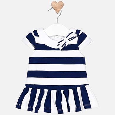 9362381f32715 Vestido rayas talle bajo bebé recién nacida Navy - Mayoral