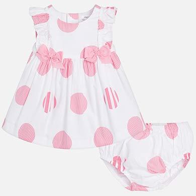 95bb98ae6ff Φόρεμα πουά στάμπα νεογέννητο κορίτσι Καμέλια - Mayoral