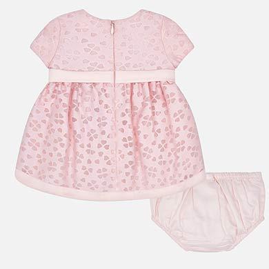 3ff03d211 Vestido ceremonia con braguitas bebé recién nacida Rosa - Mayoral