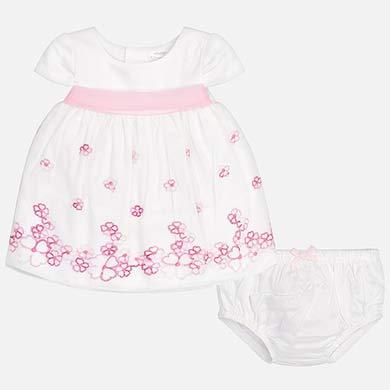 7130f878858 Φόρεμα τούλι με λουλούδια νεογέννητο κορίτσι Καμέλια - Mayoral