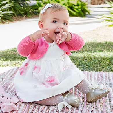 bfce717d4b9f Flower dress with knickers for newborn girl