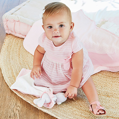 eeafd15baee Striped dress with knickers for newborn girl