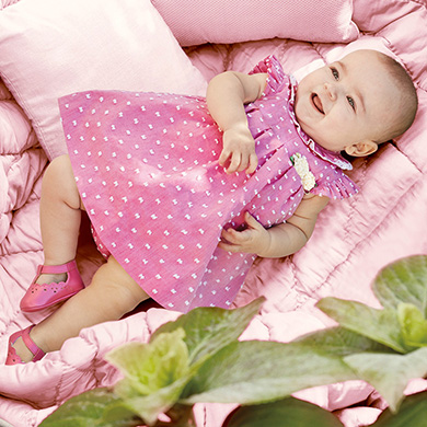 1765f4fb8c2 Plumeti dress with knickers for newborn girl