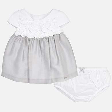 6c6371a2c30 Vestido combinado con braguitas bebé recién nacida