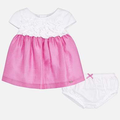 6f52487cc5 Vestido combinado con braguitas bebé recién nacida