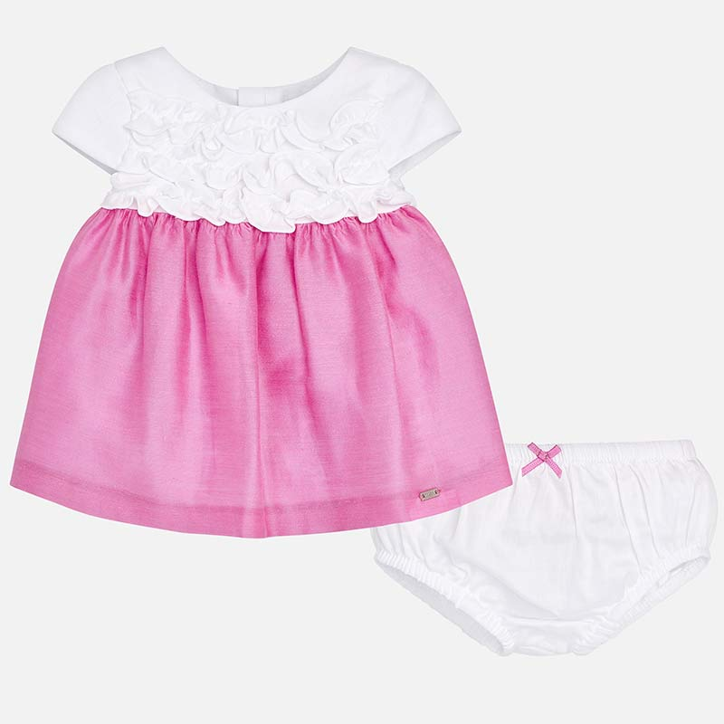 70a09d13717 Combined dress with knickers for newborn girl Flora - Mayoral