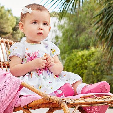 Vestido flores con vuelo bebé recién nacida be86c8b1053