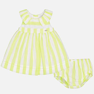 fb06507a1 Striped dress with knickers for newborn girl
