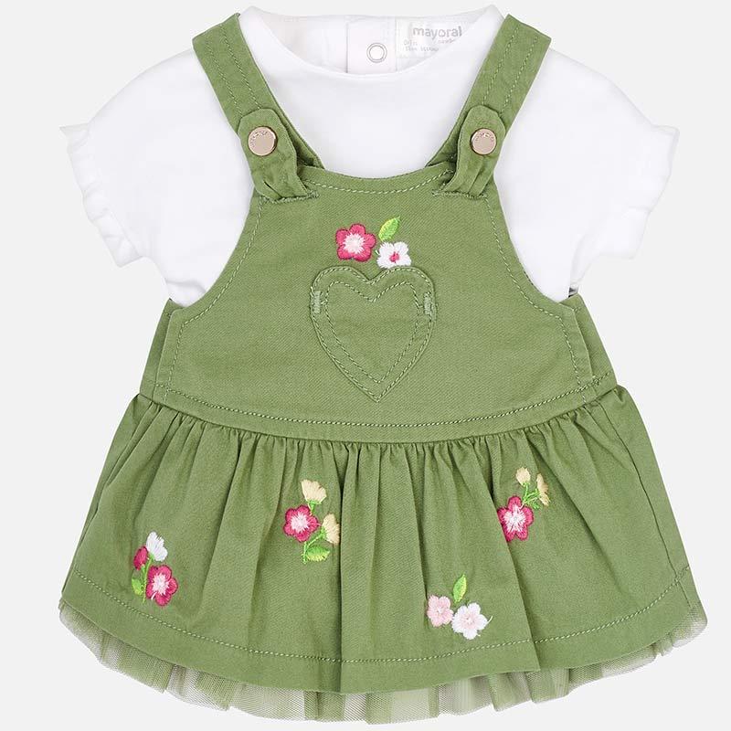 653aa2b97 Conjunto falda peto y camiseta bebé recién nacida Aloe - Mayoral