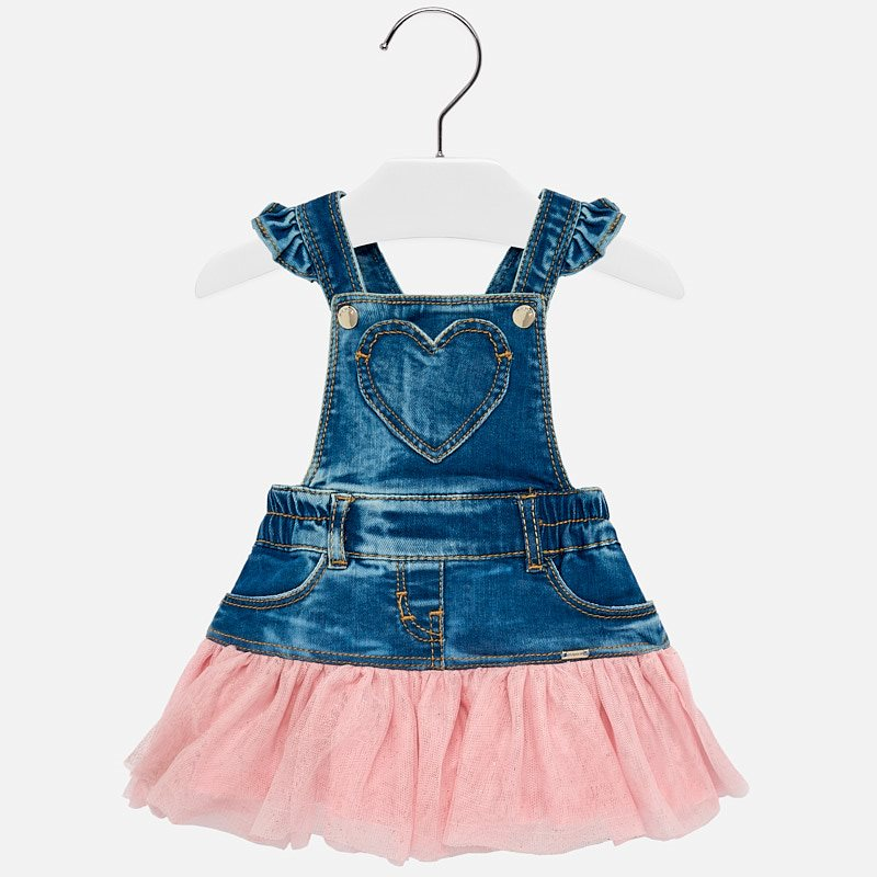 a4ffba2e32f4 Tulle dungaree skirt for baby girl Pink - Mayoral