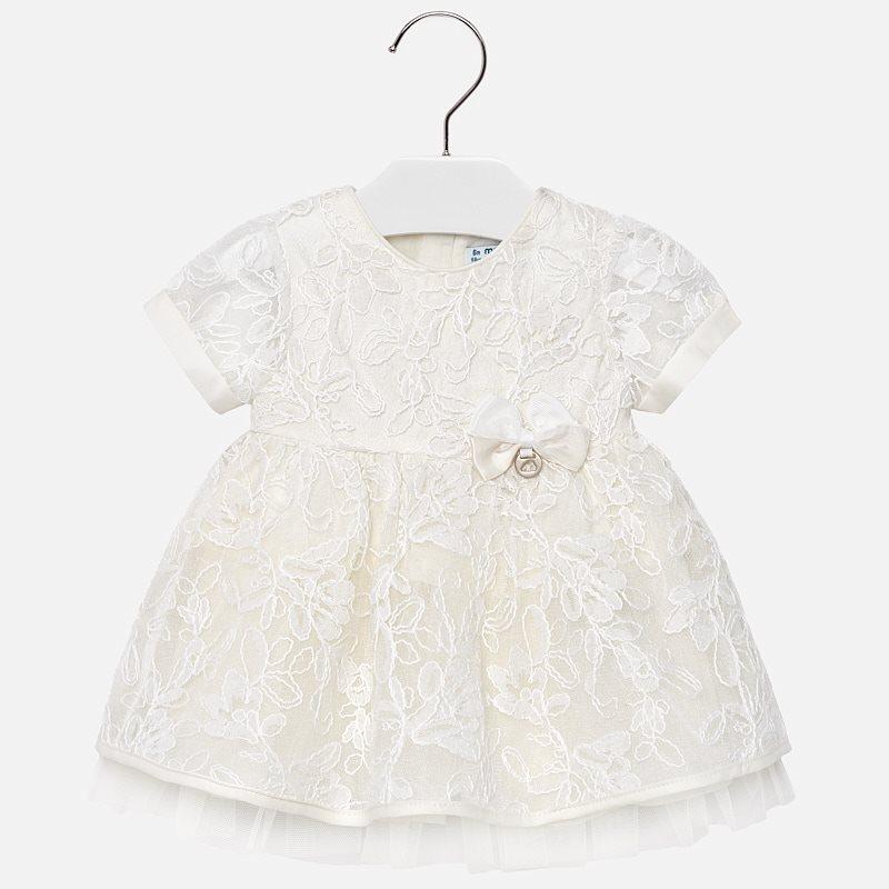 Vestito tulle ricamato bambina Panna - Mayoral 55efc35b8f0