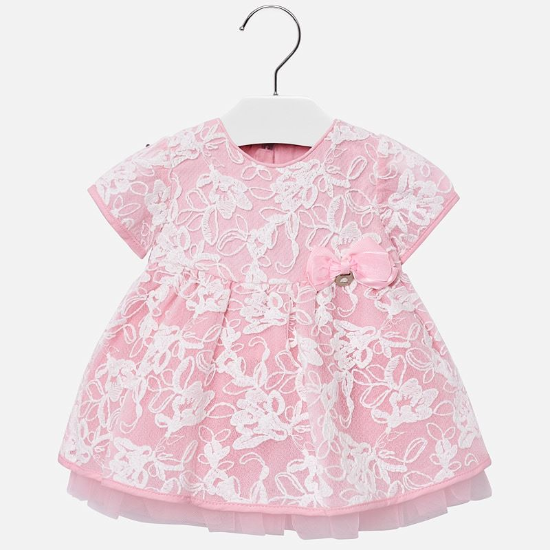 934a3c76a70 Embroidered tulle dress for baby girl Pink - Mayoral