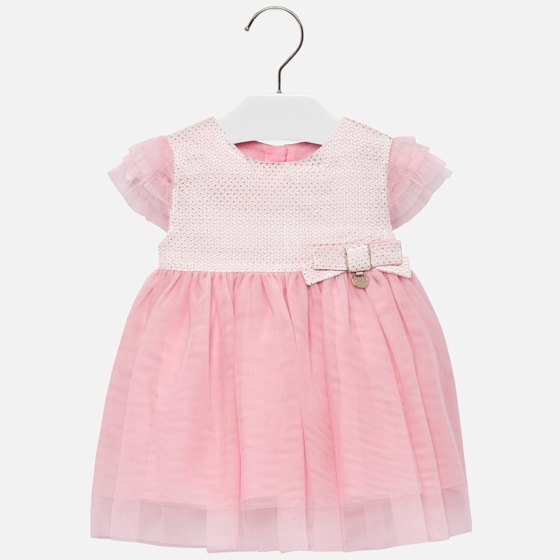 f40cb502 Flared tulle dress for baby girl Pink - Mayoral